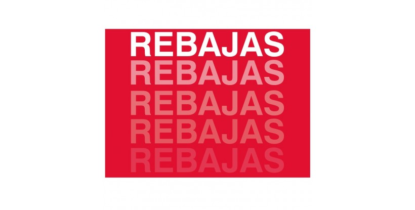 Cartel Rebajas degradado