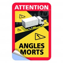 Autocollant attention angles morts
