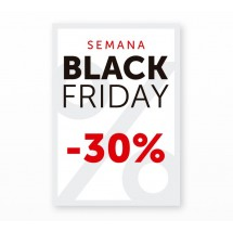 Cartel Black Friday 30% Blanco