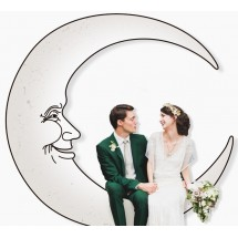 Photocall lune pour mariage