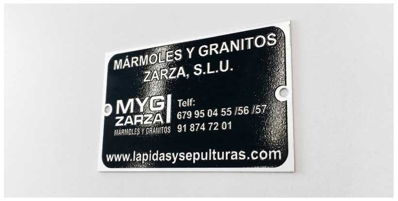 Placa industrial aluminio