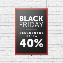 Cartel Colgante Black Friday -40%