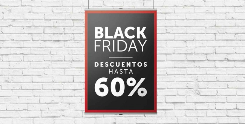 Cartel Colgante Black Friday -60%