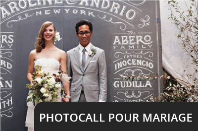 Photocall pour mariage