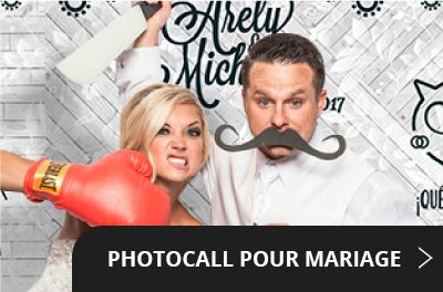 Photocall pour marriage